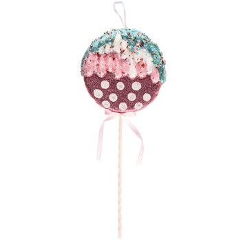 Pink & White Polka Dot Sprinkle Lollipop Pick