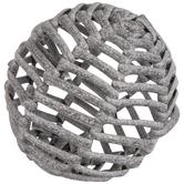Gray Woven Decorative Sphere