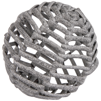 Gray Woven Decorative Sphere