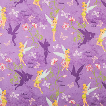 Tinker Bell Cotton Calico Fabric