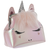 Pink Iridescent Unicorn Coin Purse