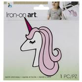Pink Unicorn Iron-On Applique