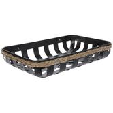 Black Metal Basket Tray - Small