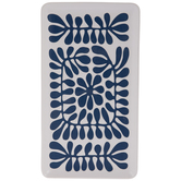 White & Blue Splats Rectangle Tray