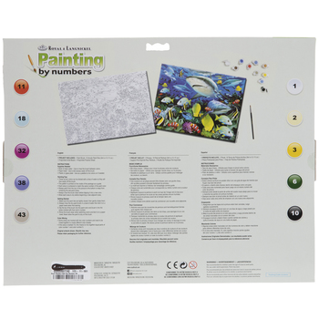 Reef Sharks Paint By Number Kit