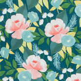 Blush Hunter Floral Knit Fabric