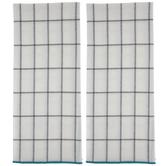 Trim Windowpane Kitchen Towels