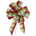 Red, Green & White Plaid Gift Bow