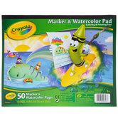 """Crayola Marker & Watercolor Pad - 8"""" x 10"""""""