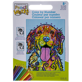 Colorful Dog Color By Number Kit