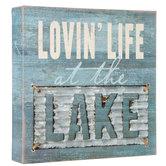Lovin' Life At The Lake Wood Decor
