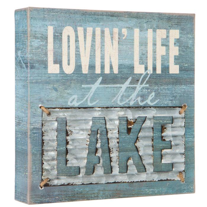 do the lake! Lake life wood ornament