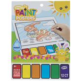 Dino Easter Magic Paint Poster Book