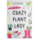Crazy Plant Lady Garden Flag
