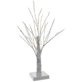 Light Up White Wire Birch Tree