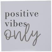 Positive Vibes Only Wood Wall Decor
