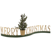 Merry Christmas With Faux Tree Decor