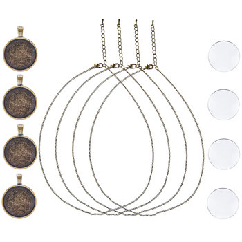 Round Bezel Necklace Kit