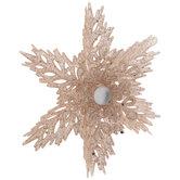 Pink Glitter Snowflake Ornament
