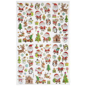 Santa & Friends Foil Stickers