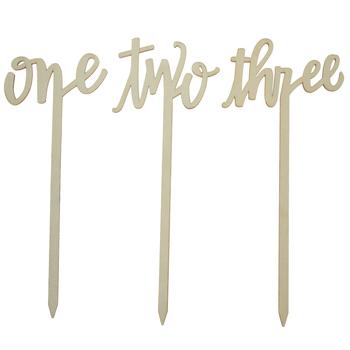 Table Number Wood Picks