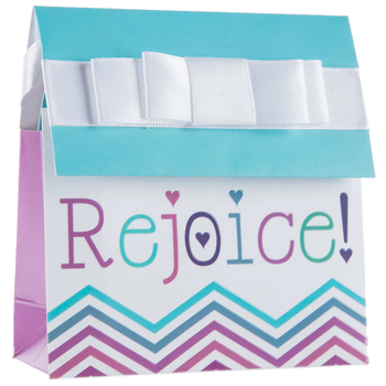 Purple & Aqua Rejoice Mini Reveal Gift Card Holder