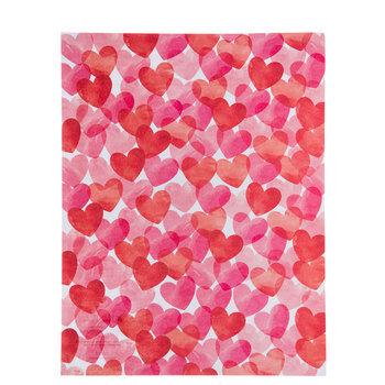 "Watercolor Hearts Paper - 8 1/2"" x 11"""