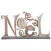 Noel Glitter Metal Decor
