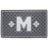 Gray Geometric Tiles Letter Doormat - M
