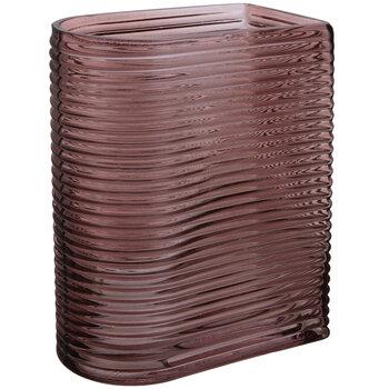 Purple Ribbed Glass Vase