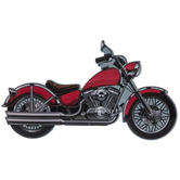 Red Motorcycle Metal Sign
