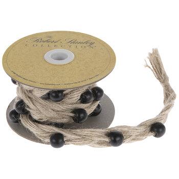 """Beaded & Braided Jute Ribbon - 11/16"""""""