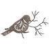 Flourish Bird Looking Right Wood Wall Decor
