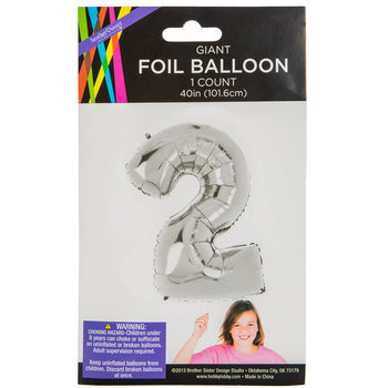 Silver Foil Number Balloon - 2