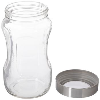 Divoted Glass Jar