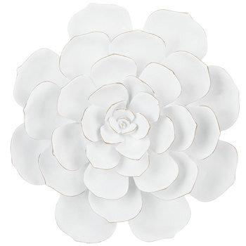 White Cactus Flower Wall Decor