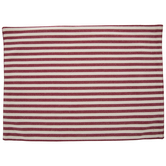 Ivory & Burgundy Striped Placemat