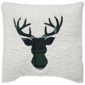 Plaid Deer Sherpa Pillow