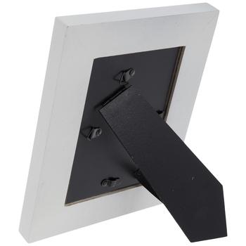 Distressed White Beveled Wood Frame