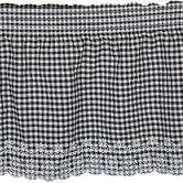 Black & White Gingham Eyelet Cotton Fabric