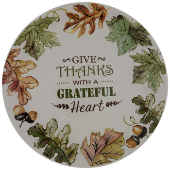 Give Thanks With A Grateful Heart Plate