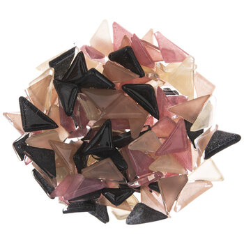 Pink & Black Triangle Mosaic Tiles