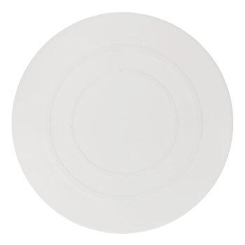 "White Round Cake Separator Plate - 8"""