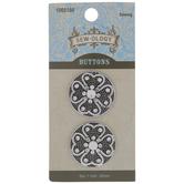 Clover Round Metal Shank Buttons - 25mm