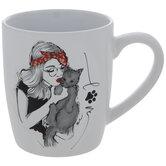 Love Woman With Cat Mug