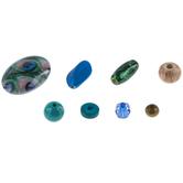 Peacock Wood & Acrylic Bead Mix