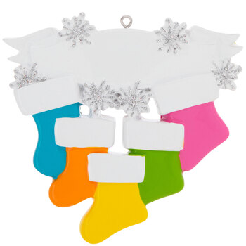 Bright Stockings Personalized Ornament