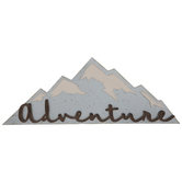 Adventure Mountain Wood Wall Decor