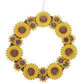 Sunflowers Wreath Metal Wall Decor