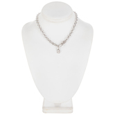 """Lobster Clasp Focal Necklace - 18"""""""